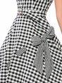 Date Sleeveless Holiday Bow Statement Midi Dress