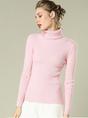Sheath Turtleneck Ribbed Casual Long Sleeve Sweater