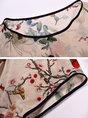Multicolor Shift Short Sleeve Paneled Floral Midi Dress