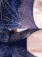 Dark Blue Prom See-Through Mini Dress