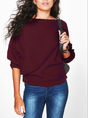 Casual Bateau/boat Neck Sweater