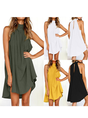 Shift Women Daily Basic Sleeveless Solid Summer Dress