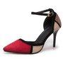 Panel Suede Color Block Stiletto Heel Heels