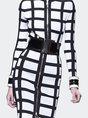 Checkered Color-block Elegant Midi Dress