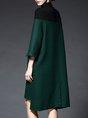 Shift Daily Elegant Color-Block Midi Dress