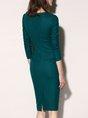 Bodycon Daily Solid Elegant Midi Dress