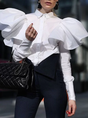 White Long Sleeve Elegant Blouse