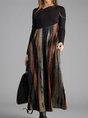 Black Cotton-Blend Vintage Dress
