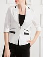 Color-block Sheath Elegant Blazer