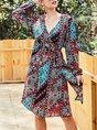 Summer V Neck Tribal Midi Dress