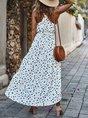 Halter Beach Polka Dots Holiday Maxi Dress