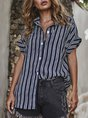 Striped Casual Shift Daily Blouse