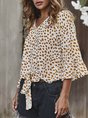 Bell Sleeve V Neck Holiday Top