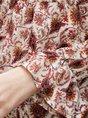 Women Floral Romantic Crew Neck Blouse