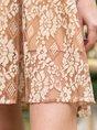 Ruffled Frill Sleeve Lace Midi Dress