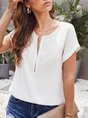 Summer Solid Casual T-Shirt