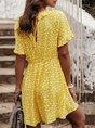 Ruffled Printed Holiday Mini Dress