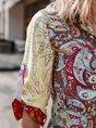 Flower Floral Long Sleeve Blouse