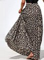 Printed Leopard Holiday Maxi Skirt