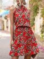 Sundress Floral Printed Boho Holiday Mini Dress