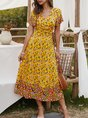 Summer Holiday A-Line Floral Maxi Dress