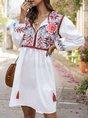 Summer Floral Beach Holiday Midi Dress