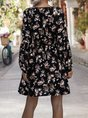 V Neck A-Line Date Holiday Mini Dress