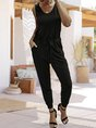 Sold Sleeveless Casual One-Pieces Jumpsuit