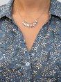 Shirt Collar Blue Mermaid Beach Ruffled Midi Dress