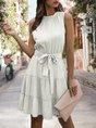 Sundress Sold Crew Neck A-Line Mini Dress