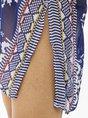 V Neck Boho Allover Bikini Cover Mini Dress