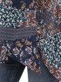 Multicolors Square Neck Floral Boho Asymmetric Top
