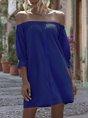 Horizontal Neck Shift Date Mini  Dress