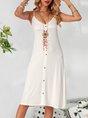 V Neck White Shift Sexy Mini Dress