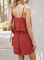 Spaghetti-Strap Holiday V Neck One-Pieces Romper