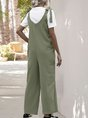 Pockets Casual Sleeveless One-Pieces Jumpsuit