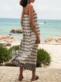 Off White Swing Beach Maxi Dress