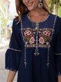 Royal Blue Shift Vintage Mini Dress