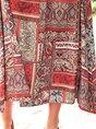V Neck Multicolors Boho Gathered Maxi Dress