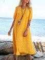 Yellow Swing Holiday Midi Dress