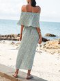 Off Shoulder Swing Sexy Floral Maxi Dress