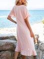 Swing Beach Checkered/plaid Midi Dress