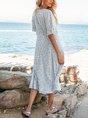 Blue Swing Midi Dress