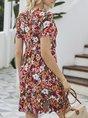 V Neck  Holiday Holiday Mini Dress