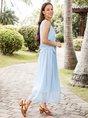 Sundress Simple Sleeveless Crew Neck  Midi Dress
