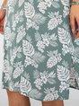Green Beach Boho Chiffon Mini Dress