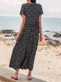 Black  Swing Daytime Casual Maxi Dress