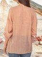 Women Cotton Frill Sleeve Boho Blouse
