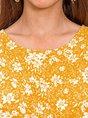 Women Printed Crew Neck Floral Sleeveless Tank Top