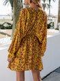 Sundress Holiday Floral-Print Floral Mini Dress